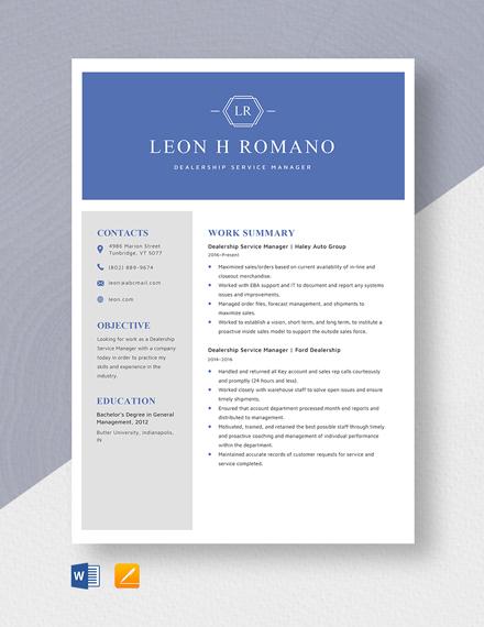 free dealership finance manager job description