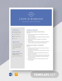 Dealership Service Manager Resume Template