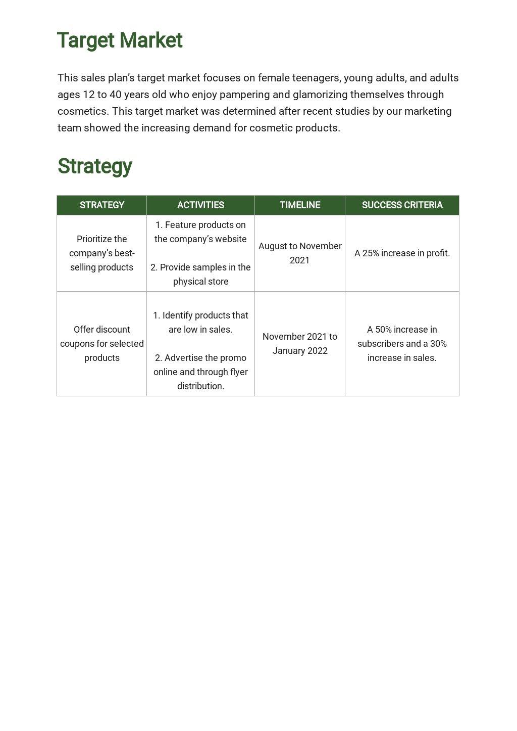 Free Weekly Sales Activity Plan Template 2.jpe