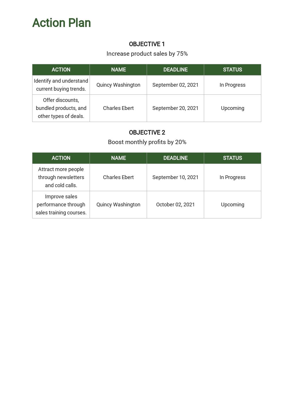 Free Weekly Sales Activity Plan Template 4.jpe