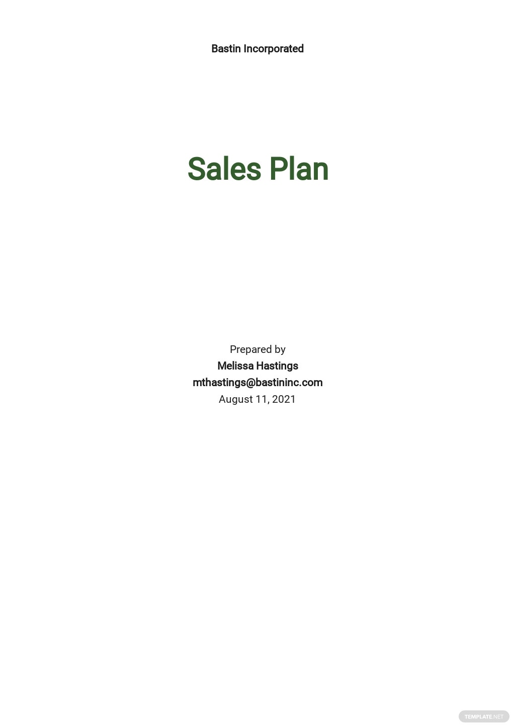 Weekly Sales Activity Plan Template