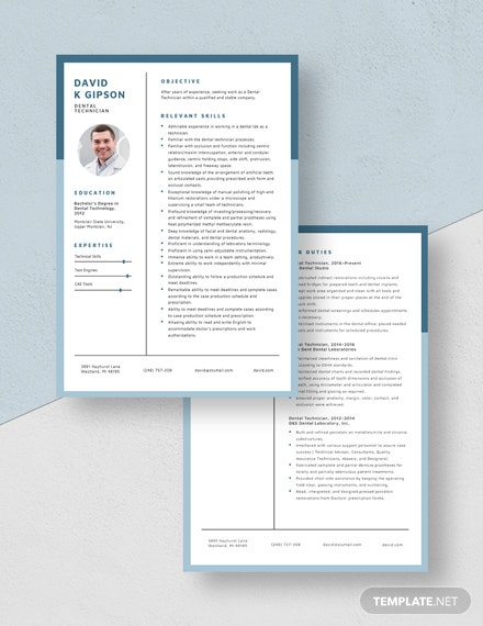 Dental Technician Resume Download