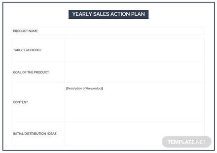 Free Yearly Sales Action Plan Template