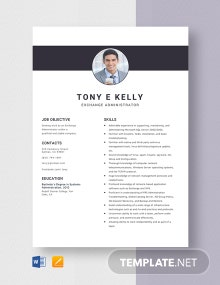 Exchange Administrator Resume Template