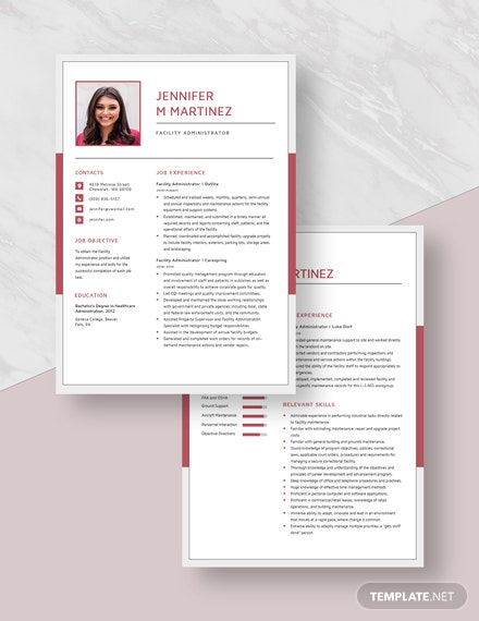 Facility Administrator Resume Download