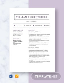 Facility Engineer Resume Template