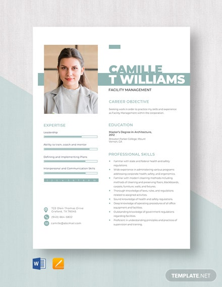 Facility Management Resume Template
