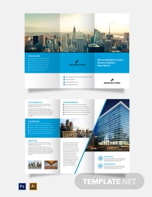 Free Architect Firm Tri-Fold Brochure Template