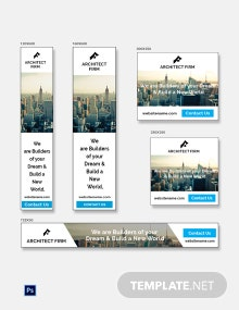 Free Architect Firm Banner Ads Template