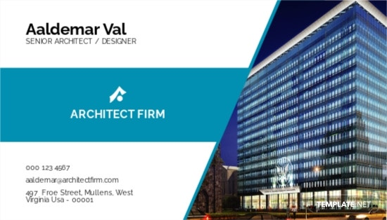 Architect Firm Business Card Template