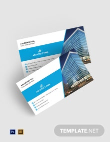 Free Architect Firm Business Card Template