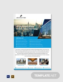 Free Architect Firm ebook Cover Page Template