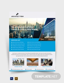 Free Architect Firm Flyer Template
