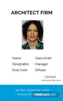 Architect Firm ID Card Template