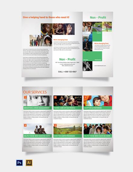 Free Non-Profit Tri-Fold Brochure Template