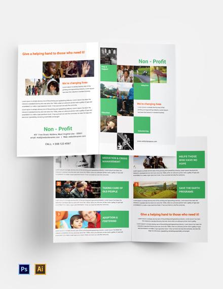 Free Non-Profit Bi-Fold Brochure Template