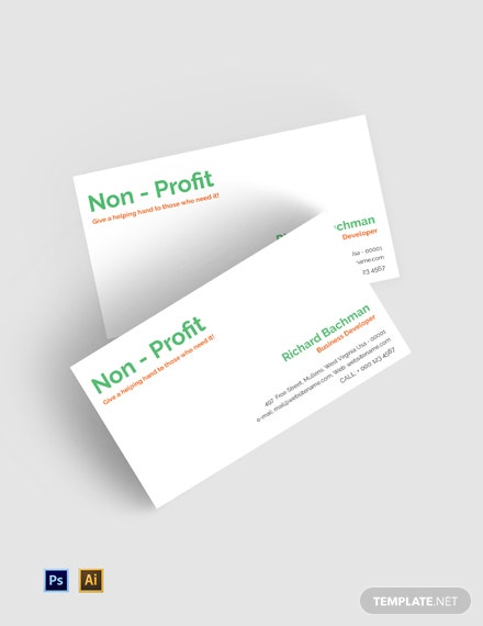 Free Non-Profit Business Card Template