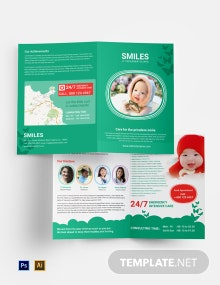 Children Clinic Bi-Fold Brochure Template