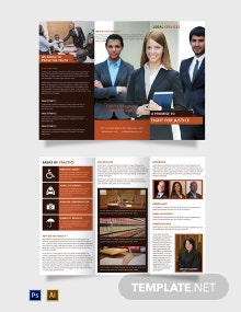 Free Legal Services Tri-Fold Brochure Template