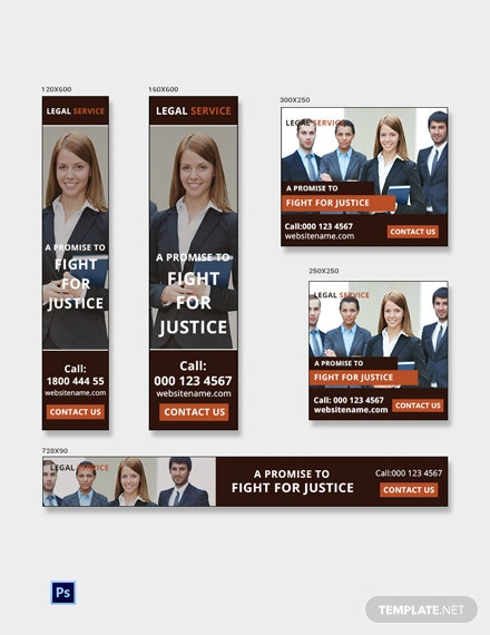 Free Legal Services Banner Ads Template