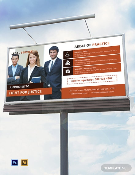 Free Legal Services Billboard Template