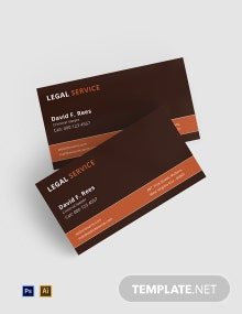Free Legal Services Business Card Template