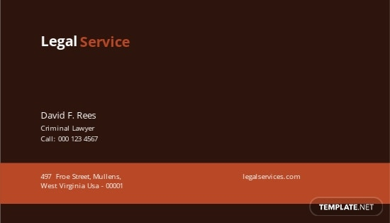 Legal Services Business Card Template