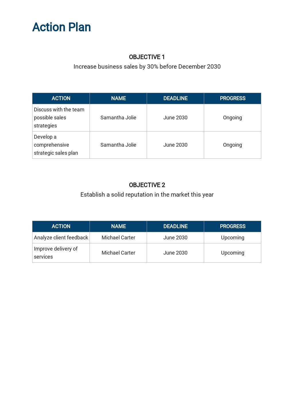 Free Sample Sales Plan Template 4.jpe