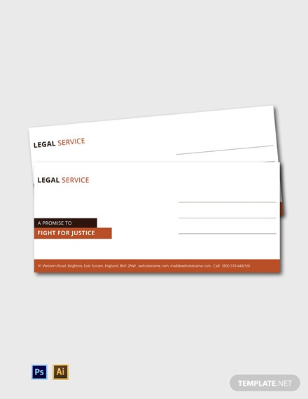 Free Legal Services Envelope Template
