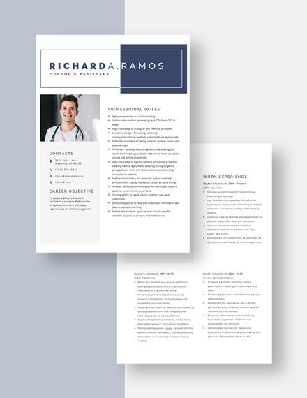 Doctors Assistant Resume Download