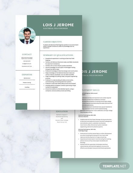 Electrical Field Engineer Resume Download