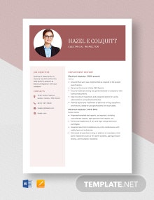 Electrical Inspector Resume Template