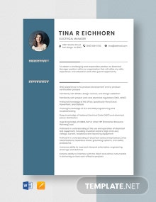 Electrical Manager Resume Template