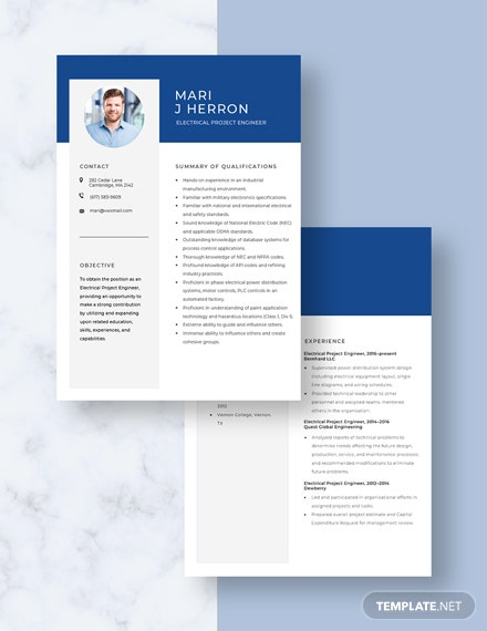 Electrical Project Engineer Resume Download
