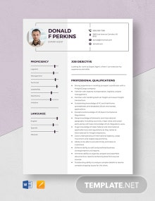 Export Agent Resume Template