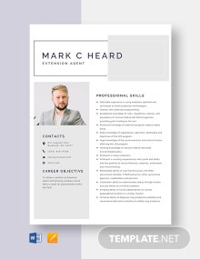 Extension Agent Resume Template