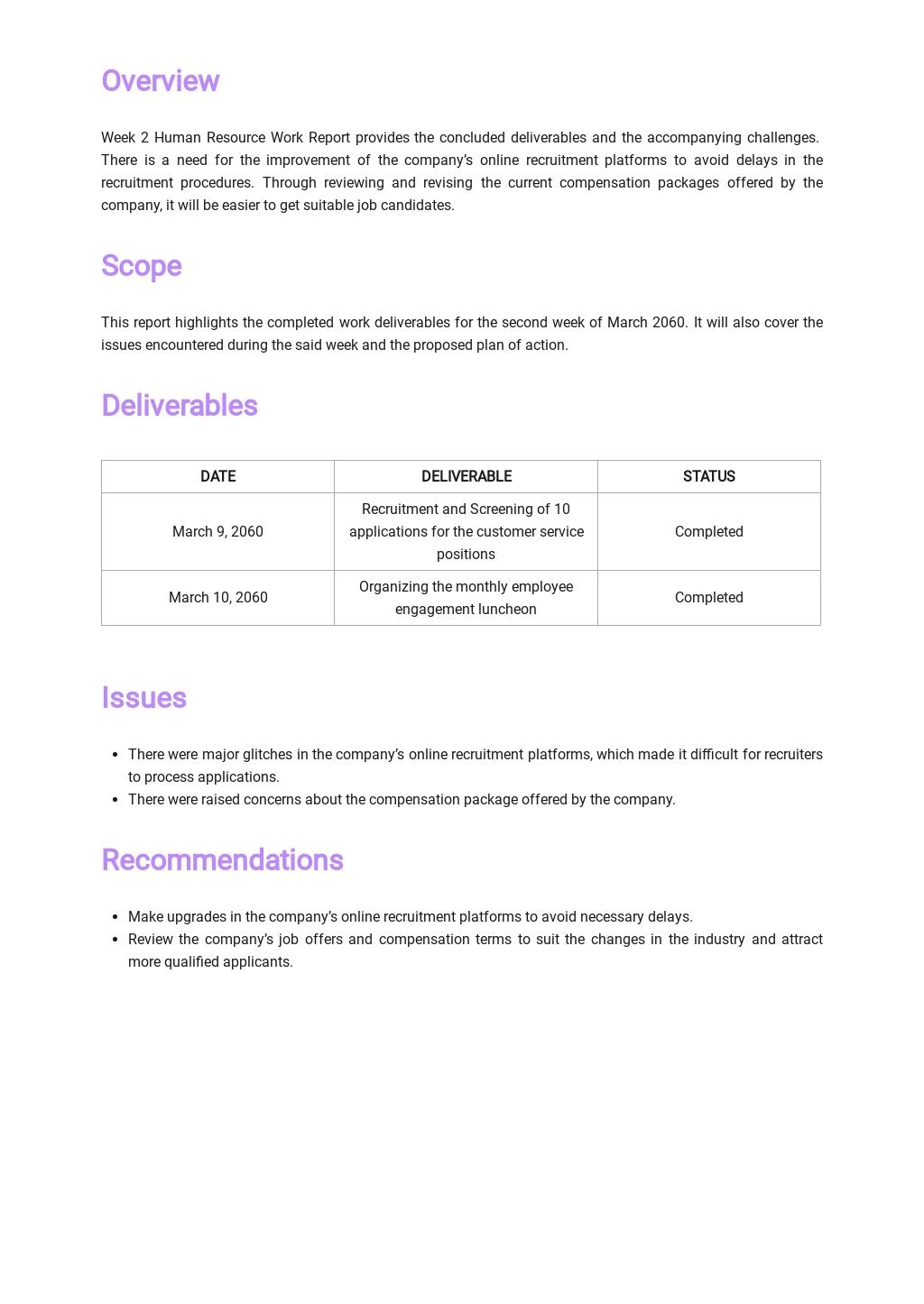 Free Weekly Work Report Template 1.jpe
