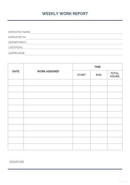 simple weekly status report template