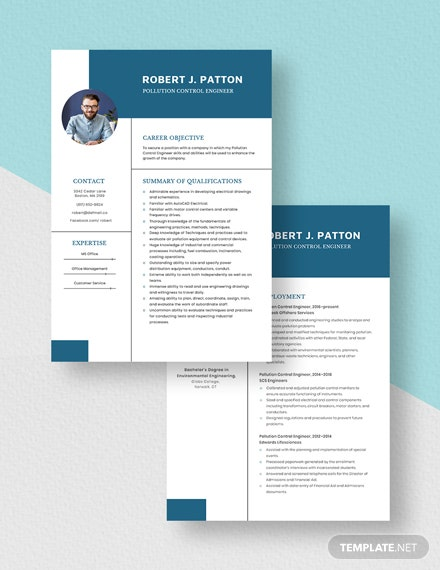 Pollution Control Engineer Resume Download