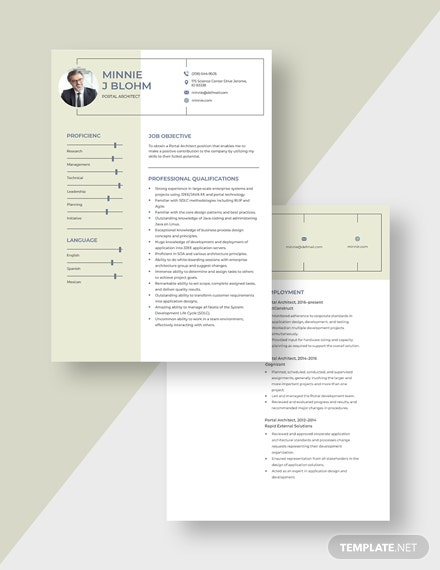 Portal Architect Resume Download