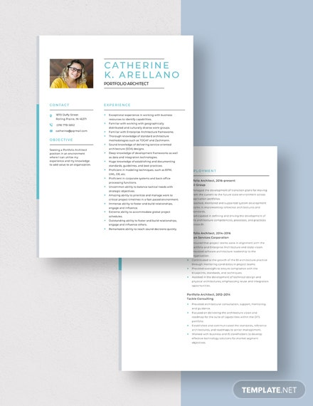 Portfolio Architect Resume Download