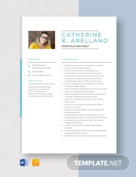 Portfolio Architect Resume Template