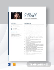 Print Graphic Designer Resume Template