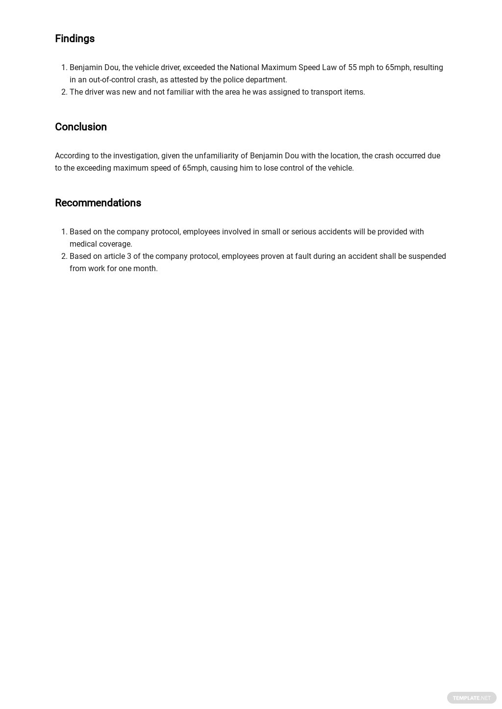Free Blank Incident Report Template 2.jpe