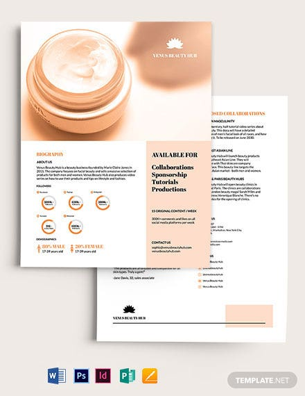 Beauty Media Kit Template