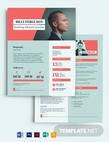 Marketing Influencer Media Kit Template