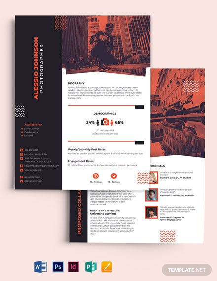 Photographer Media Kit Template