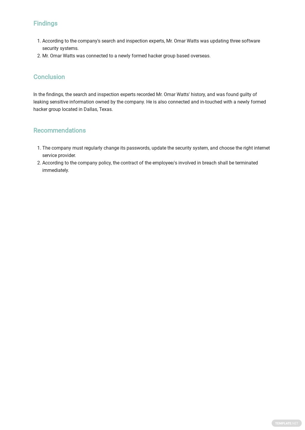 Free Employee Incident Report Template 2.jpe