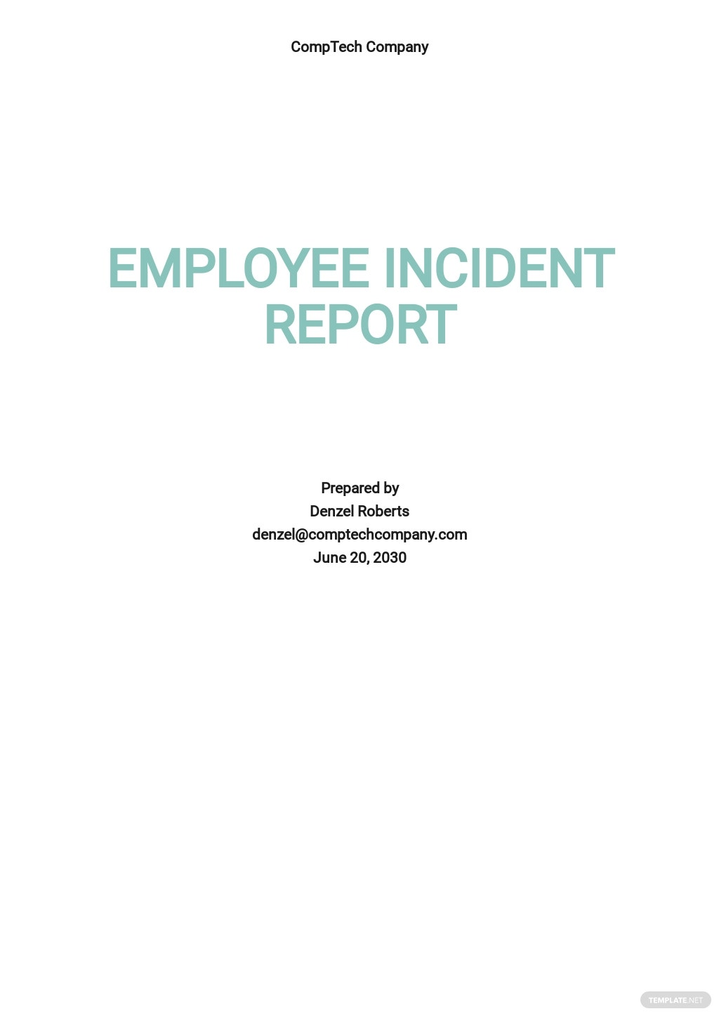 Free Employee Incident Report Template.jpe