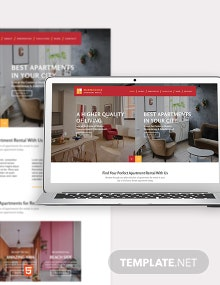 Apartment Rental Bootstrap Landing Page Template